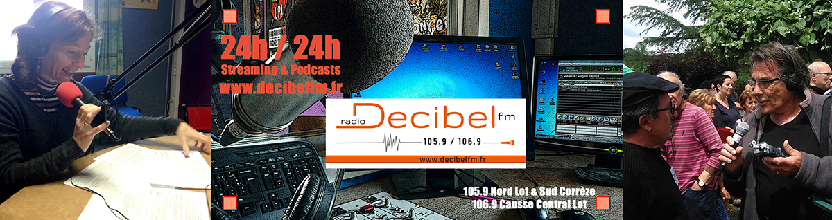 Bandeau et logo decibel FM